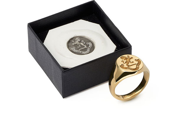 Gold Signet Ring Womens