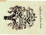 An early 20th century armorial bookplate