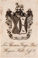 An early 19th century armorial bookplate