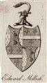 A late 18th century framed armorial bookplate