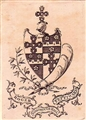 An early 19th century framed armorial bookplate