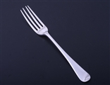 A George III sterling silver Old English pattern table fork