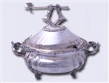 Exceptional Old Sheffield Plate tureen and cover with Armorial finial