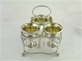 George IV 3-piece Egg Cruet Set, 1822