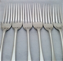 Victorian Sterling Siver Set Six Old English Pattern Table Forks 1868/77