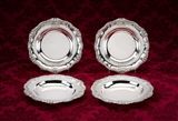 The Sheridan Grant dishes: A fine set of four William IV sterling silver second course dishes