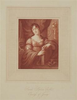 Antique portrait print: Sarah Sophia Child. Countess of Jersey