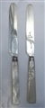 Pair of Antique Sterling Silver bladed George IV Mother of Pearl Handled knives 1821