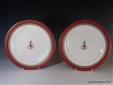 Superb Pair Royal Worcester Armorial Porcelain Plates CITY OF LONDON