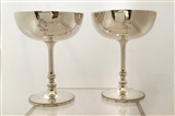 Antique Pair of Victorian Silver-plated Champagne Coupes c. 1900