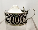Antique George III Silver Pierced Oval Mustard Pot 1762