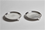 A fine pair of George III sterling silver small salvers