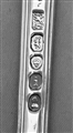 Antique George IV Sterling Silver Queens Oyster pattern dessert fork, 1824