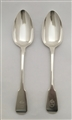 Antique Sterling Silver Pair George IV Fiddle Pattern Tablespoons 1827
