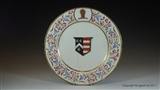 Armorial Porcelain Plate MITCHELL imp PUSEY Family Coat Arms Crest