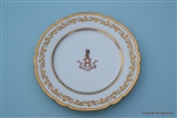 Armorial Porcelain Plate HALL of LITTLEBECK FLORENCE NIGHTINGALE