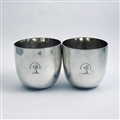 George III Hallmarked Sterling Silver Pair Nesting Tumbler Cups