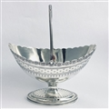 George III Bright Cut Engraved Sugar Basket