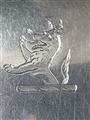 Antique Irish Georgian Hallmarked Sterling Silver Set 4 Fiddle Rat Tail Pattern Table Spoons 1825