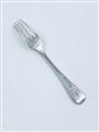 Antique George IV York Hallmarked Sterling Silver Old English Thread Pattern Dessert Fork 1827