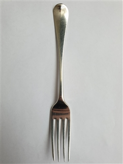 Antique George III Hallmarked Sterling Silver Old English Pattern Dessert Fork, 1812