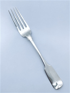 Antique George IV Irish Hallmarked Sterling Silver Fiddle Pattern Table Fork 1829