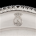Twelve dinner plates from Admiral Lord Bridport's seagoing silver service, 1785-7