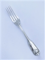Antique George IV Hallmarked Sterling Silver Fiddle Thread & Shell Pattern Dessert Fork 1823