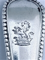 Antique Victorian Hallmarked Sterling Silver Beaded Old English Pattern Mustard Spoon 1867