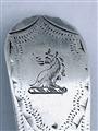 Antique George III Hallmarked Sterling Silver Old English Bright Cut Teaspoon 1804