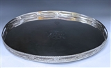 Antique Silver George III Rare & Important Gallery Tray made in 1777