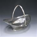 Antique Silver George III Swing-Handled Cake Basket made in 1788