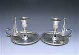 Pair of George III Antique Silver Chambersticks made in 1799