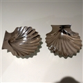 18th Century Antique George III Sterling Silver Pair Butter Shells London 1777 William Plummer