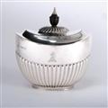 Queen Anne Style Silver Tea Caddy