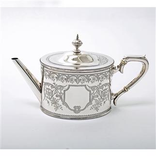 Victorian Silver Teapot