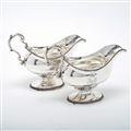 Pair of George III Silver Sauce Boats