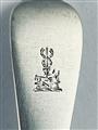 Hallmarked sterling silver Victorian silver rattail pattern dessert fork 1882