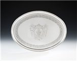 A VERY FINE GEORGE III DRINKS SALVER MADE IN LONDON IN 1791 BY THOMAS DANIEL