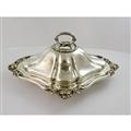 Entree Dish - diamond-shaped with Floral Scroll Mount - London 1843 by J C Eddington