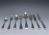 Antique Silver Old English Pattern Flatware Service made in 1879-80