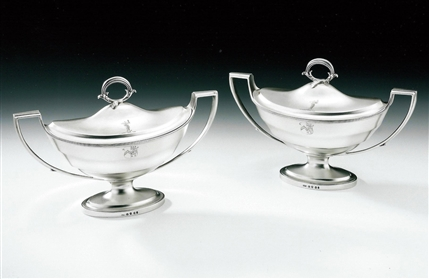William Frisbee. A Very Fine Pair of George Iii Sauce Tureens Made in London in 1797 by William Frisbee